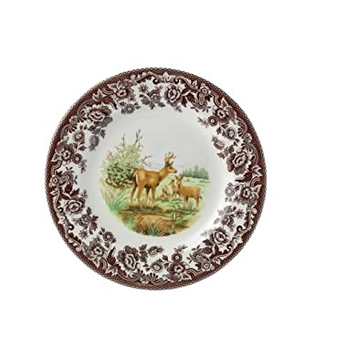 Spode Woodland American Wildlife Mule Deer Dinner Plate