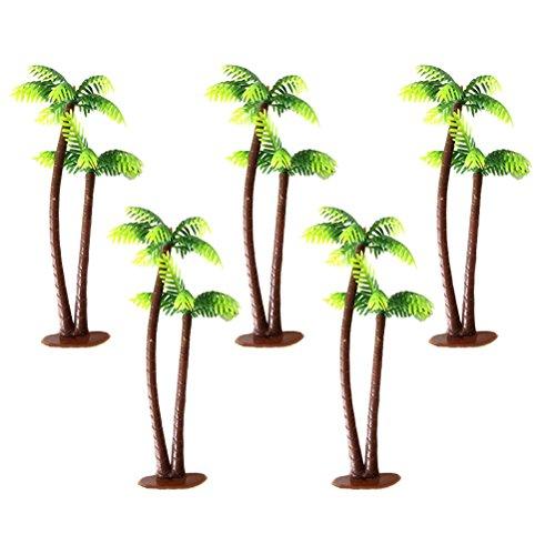 Winomo Bäume, Modell 5 Stück, 13 cm, Kokospalme, Landschaftsbau, Modellbau, Eisenbahnbäume