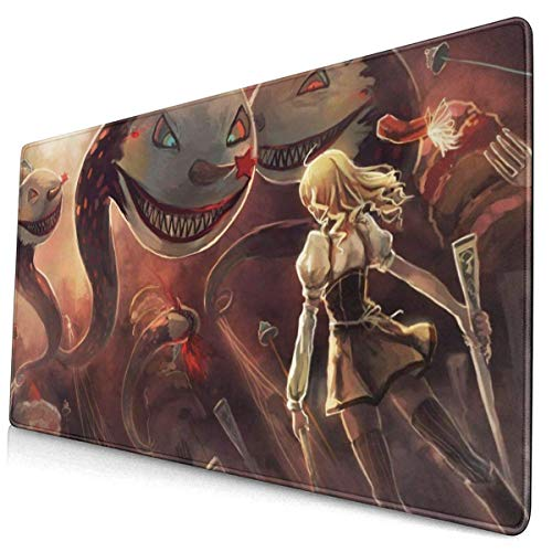 Anime Mahou Shoujo Madoka Magica Tomoe Mami Attack 15.8x29.5 in Large Gaming Mouse Pad Desk Mat Long Non-Slip Rubber Stitched Edges