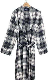 ملابس نوم رجالي من نوتيكا بنمط Buchan منقوش من الفلانيل وياقة روب