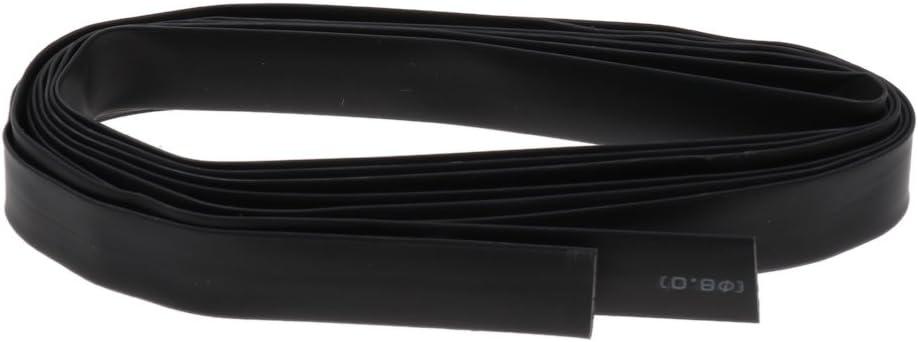 Durable Noir SDENSHI Gaines Thermor/étractables 5 M/ètres Ignifuge Noir 2m 10mm