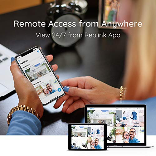 Reolink 4K PoE Security Camera System, 4pcs Wired 8MP Outdoor PoE IP Cameras, 8MP 8-Channel NVR with 2TB HDD Video Surveillance System for 24/7 Recording, RLK8-800B4