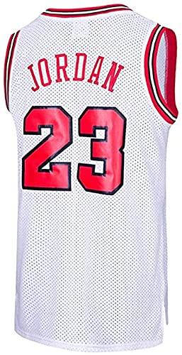 xzl Hombres Baloncesto Jersey NBA Michael Jordan #23 Youth Training Chaleco Transpirable Ropa Deportiva Clásica, Blanco - S