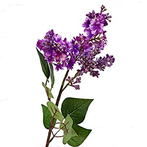 liyhh 1Pc Beauty Artificial Lilac Fake Flower Faux Plant Garden Wedding Bouquet Decor for Party Home Cafe