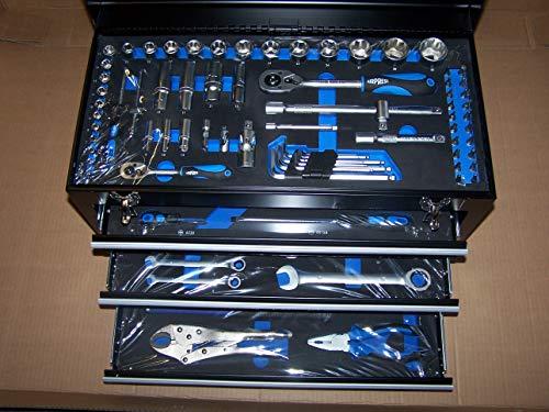 99 tlg.Werkzeugkoffer gefüllt abschließbar mit 3 Schubladen und 1 Deckel