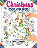 Christmas Coloring Placemats: 25 Xmas Unicorn Coloring Book Placemats for Kids   This Christmas Unicorn Coloring Activity Book Includes: WordSearch, ... Puzzles & Maze   Large Print Size Book Gift