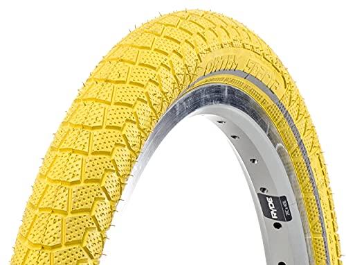 Amigo Ortem Sparta 50-406 - Cubierta para bicicleta (20', con bandas reflectantes), color amarillo