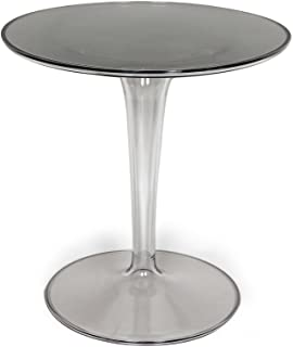 2xhome - Tiptop Cafe Table - Tulip End Table Side Table - Philippe Starck & Eugeni Quitlet Designed, Coffee Tea Restaurant Nightstand Night Stand Game Mono Small Mini