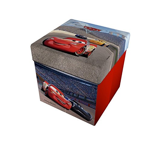 Star Disney Cars & Planes Licensing Cars & Planes Art. Code-49419, Pouf con Cuscino Stampato, Dimensioni 32 x 32 x 32 cm, Multicolore, per Bambini, Star Disney Cars & Planes_49419