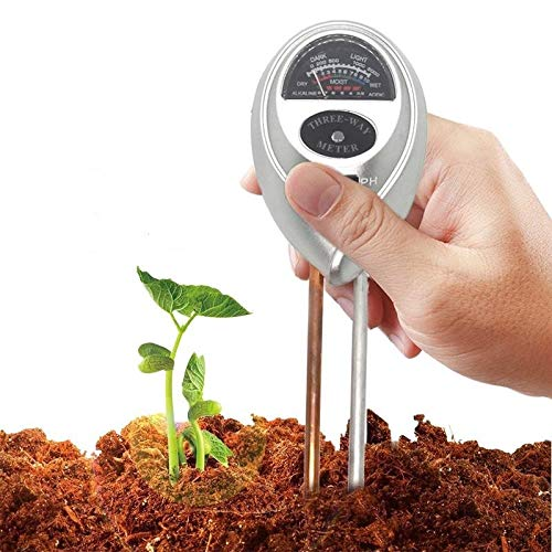 Soil Tester for Moisture Lights and PH Meter for Plant Garden Vegetables Lawn Farm - Instant Soil Test Kit Tool for Grass Gardening House Garden Compost Houseplant Farm Indoor Outdoor Ground Care