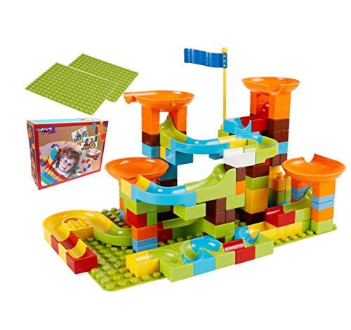 ボールコースター 162ピース プレート付き ボール転がし ブロック 組立 レゴデュプロ互換 lego アンパンマンブロック おもちゃ 子供 キッズ 知育