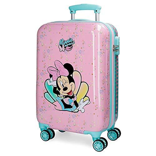 Disney Minnie Mermaid Maleta de Cabina Rosa 37x55x20 cms Rígida ABS Cierre combinación 32L 2,5Kgs 4 Ruedas Dobles Equipaje de Mano