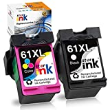 Starink Remanufactured Ink Cartridge Replacement for HP 61 XL 61XL for Envy 4500 5530 5535 Deskjet 1000 1010 1050 1510 1512 2510 2540 2050 3000 3050 3050a 3510 3512 Officejet 4630 2620,Black Tri-color