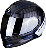 SCORPION Casque moto EXO-510 AIR FRAME Black-Blue-White, Noir/Bleu/Blanc, M