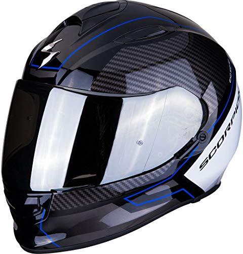 Scorpion NC Casco per Moto, Adultos Unisex, Negro/Azul/Blanco, M
