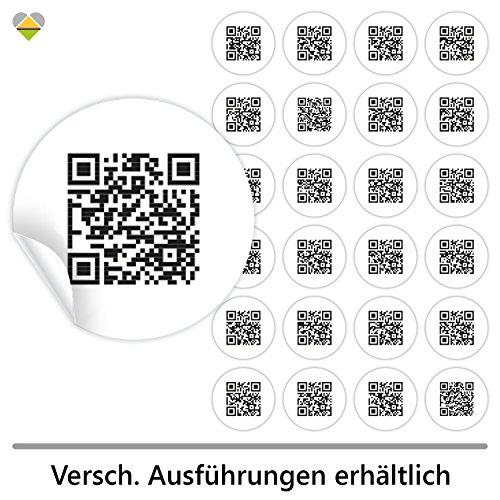 cute-head 24 Adventskalender-Zahlen (Aufkleber Etiketten Sticker) | Originell als QR Code | Rund | M » Ø 40 mm | Schlicht | F00001-02