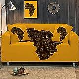 Funda Elástica para Sofá Impresoamarillo 4 Plaza Universal Funda Cubre Sofas Ajustables Antideslizante Decorativas Protector Sofa de Muebles (235-300cm)