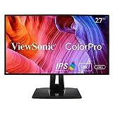 Viewsonic ColorPro VP2768-4K 68,6 cm (27 Zoll) Fotografen Monitor mit Kalibrierfunktion (4K, IPS mit Delta E