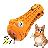 Feeke Dog Chew Toys, Indestructible Toothbrush Rubber Dog Toy for Aggressive Chewers Large Medium Breed Dogs Teeth Cleaning Toys