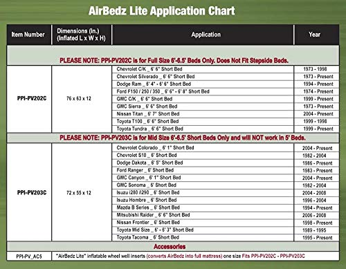 airbedz truck bed air mattress