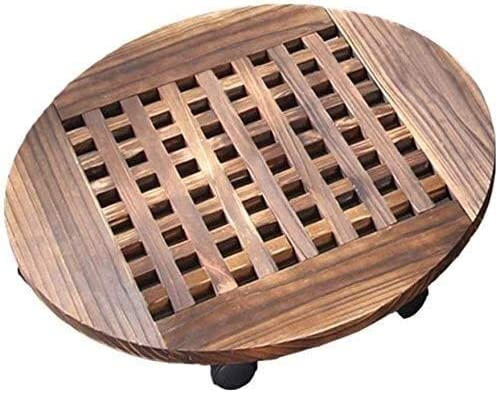 RRH Plant Caddy with Wheels Rolling Basket Planting Wooden Large discharge sale Directly managed store H Pot
