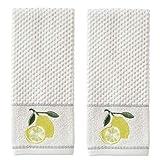 SKL HOME by Saturday Knight Ltd. Lemon Zest Hand Towel, White (2-Pack)