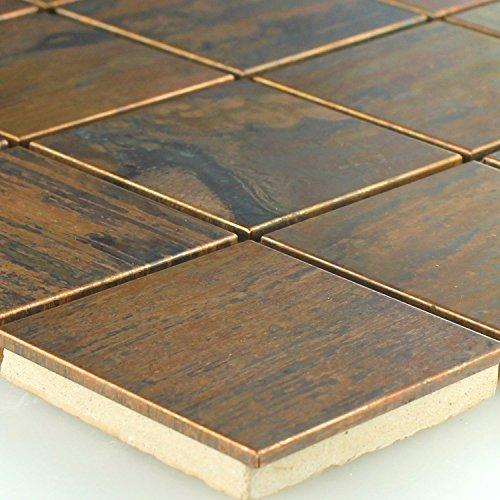 Kupfer Metall Design Mosaik Fliesen 48x48x8mm