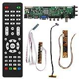 GROOMY V56 V59 Universal LCD TV Driver Board DVB-T2 + 7 Key Switch + IR + 1 Inversor de lámpara + LVDS Kit 3663