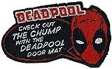 Marvel Deadpool Fußmatte Check Out The Chump Bedruckt, aus Kokosfaser, Unterseite aus PVC.