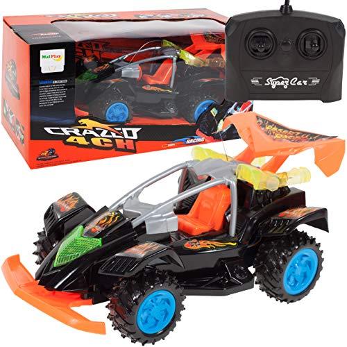 MalPlay 5901924207160 Samochód Zdalnie Sterowany CRAZEO   Auto na Pilota   Samochód wyścigowy   Miękkie Gumowe Opony   Zderzak Amortyzujący Uderzenia   na Baterie   2.4G