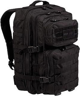 Mochila BLACK 3 Days Assault Pack Molle Bag Rucksack | Mochila negra MILTEC USA Asalto 1-3 días | US Assault 40L GRANDE