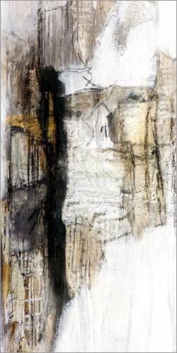 Posterlounge Acrylglasbild 40 x 80 cm: abstrakt White von Christin Lamade - Wandbild, Acryl Glasbild, Druck auf Acryl Glas Bild