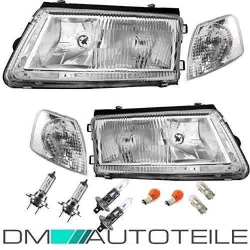 DM Autoteile Passat 3B SCHEINWERFER SET + BLINKER + BIRNEN 8tlg. H7/H1 96-00 HELLA VERSION