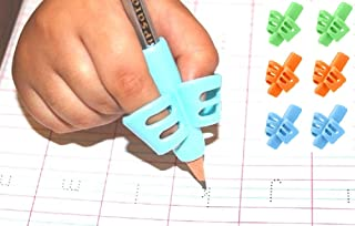 AyZu® [6 pcs ] Ergonomic Pencil Grip Kids Handwriting Posture Correction Trainer Adorable Gripper and Writing Aid for Pres...