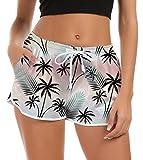 Boardshorts da Surf Casual da Donna Slim Fit Yoga Gym Activewear Pantaloncini da Bagno con Coulisse Regolabile Tasche Fitness Pantaloni Sportivi Bottom M