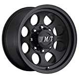 Mickey Thompson Classic III Wheel with Satin Black Finish (17x9'/6x5.5') -12 millimeters offset