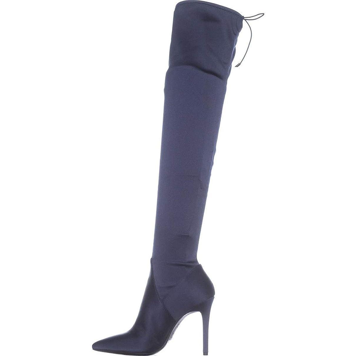 章自信があるビジター[Jessica Simpson] Womens Lessy Pointed Toe Over Knee Fashion Boots, Blue, Size 5.5 [並行輸入品]