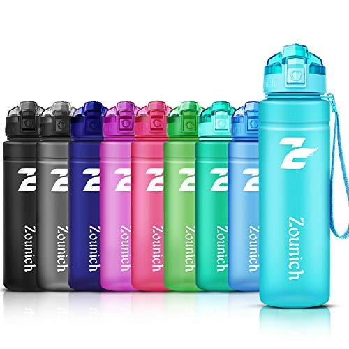 ZOUNICH Botella Agua Deporte, Botella Agua Niños sin BPA