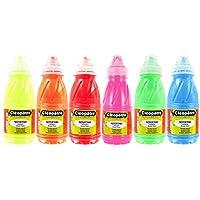 Cleopatre - PGN250x6F - Pack de 6 frascos de pintura guache, 250 ml, fluorescente