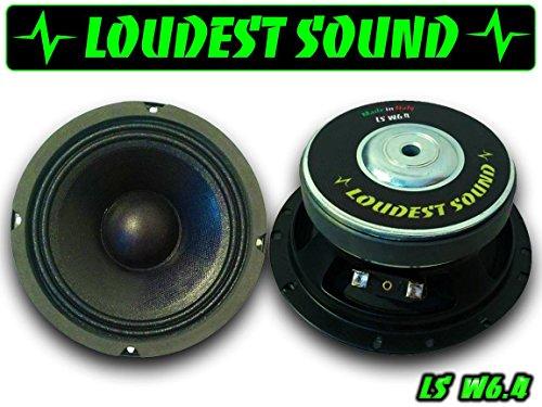 COPPIA Loudest Sound Professional Mid Woofer LS W6.4 16 cm medio bassi 165mm ideali per predisposizioni auto audio spl