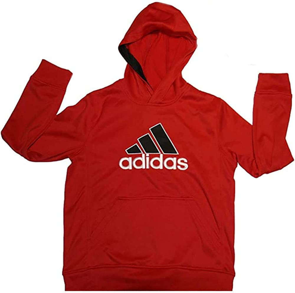 adidas Boys Sweatshirt Hooded red color size youth SMALL