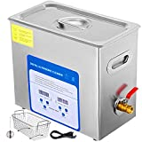 VEVOR 6L Professional Ultrasonic Cleaner 304&316 Stainless Steel Digital Lab Ultrasonic Cleaner with Heater Timer for Jewelry Watch Glasses Circuit Board Dentures Small Parts