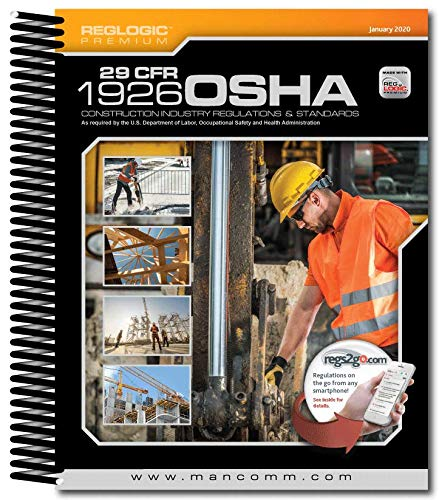 29 CFR Part 1926 OSHA Construction Standards & Regulations SpiralBound