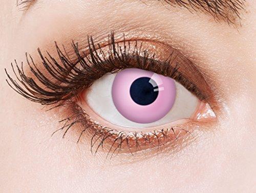 aricona Kontaktlinsen - Pinke Kontaktlinsen deckend ohne Stärke - farbige Kontaktlinsen für Anime, Manga, Cosplay, Halloween & Kostüm-Partys, 2 Stück
