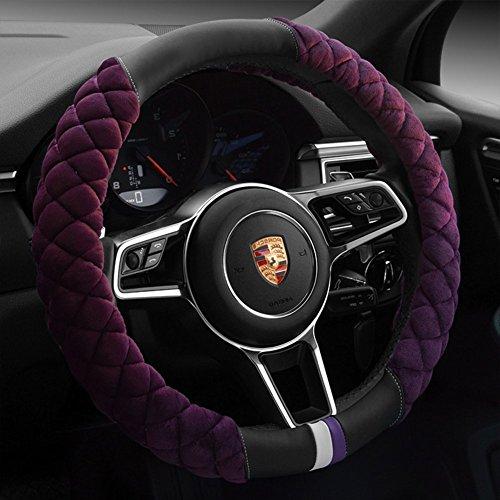 7. Cxtiy Universal Purple Steering Wheel Cover