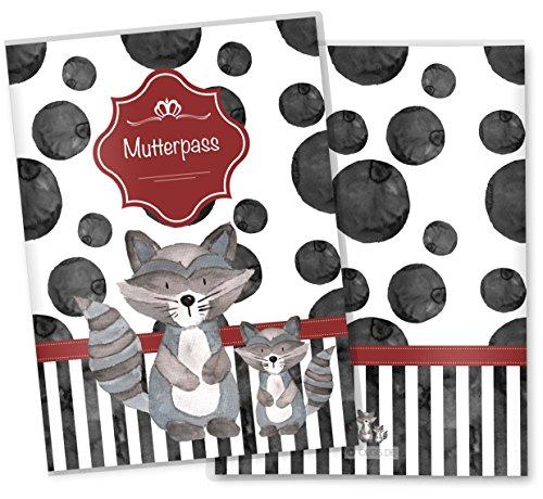 Mutterpasshülle 3-teilig Creative Royal Schutzhülle tolle Schwangerschaft Geschenkidee (Mutterpass ohne Personalisierung, Waschbär)