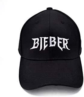 Justin Bieber Favourite Baseball Cap Summer Cotton Men Women Adjustable Hiphop Sports Caps Black
