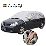JSCARLIFE Anti Ice Windshield Cover, Frost Protector for Cars, Compact and Mid-Size SUVs,Windshield Snow Covers, Weatherproof Frost Ice Snow UV Sun Dust Screen Protector (Mirror Covers Included)