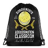 IUBBKI Korosensei Assassination Class-Room Bolsa con cordón Mochilas Deportivas para Gimnasio Bolsas de Almacenamiento Goodie Cinch