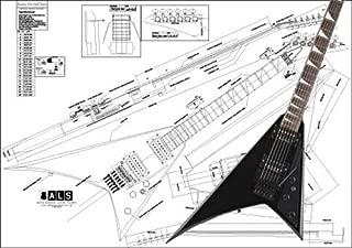 Plan of a Jackson Randy Rhoads Electric Guitar - Full Scale Print